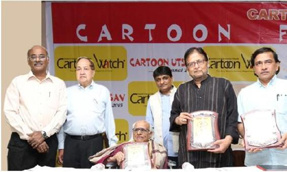 Veteran Cartoonists Honoured at Cartoon Festival