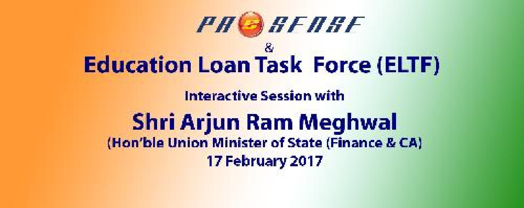 Education Loan and StandupIndia Loans - Interactive session with Shri Arjun Ram Meghwal, Honble MOS (Finance)